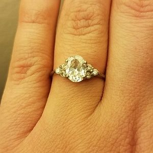 Sterling silver 925 Cubic Zirconia Ring size 7